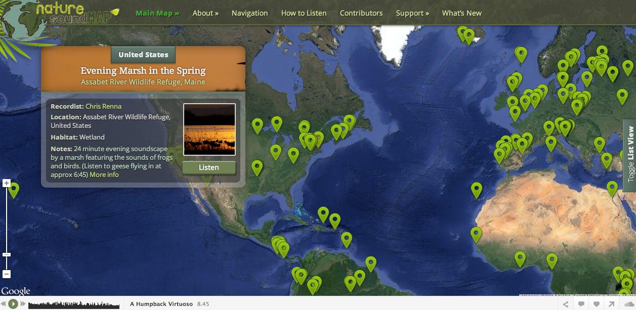http://www.naturesoundmap.com/