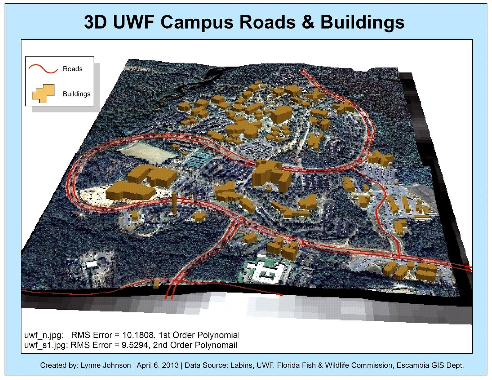GIS Blog Intro to GIS Lab 13 Georeferencing ArcScene