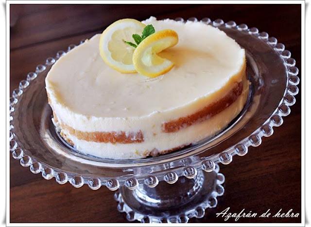 Pastel frío de limón