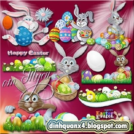 Clipart Easter - Bright Easter - happy day