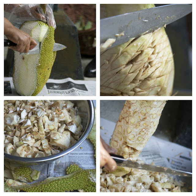 how to cut jackfruit pictures