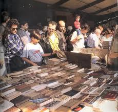 Llibres de vell al mercat