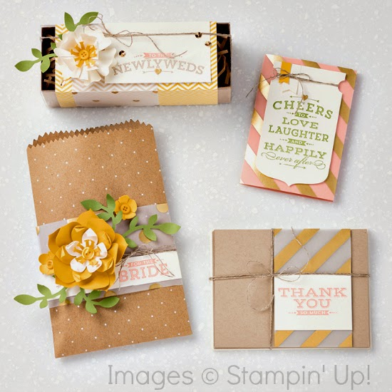 Wedding gift packaging ideas with Stampin' Up! Cheers to Love stamp set