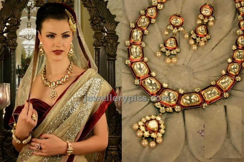 talwar jewellers kundan necklace set