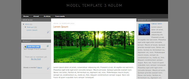 Download Kerangka Template Blogger Responsif