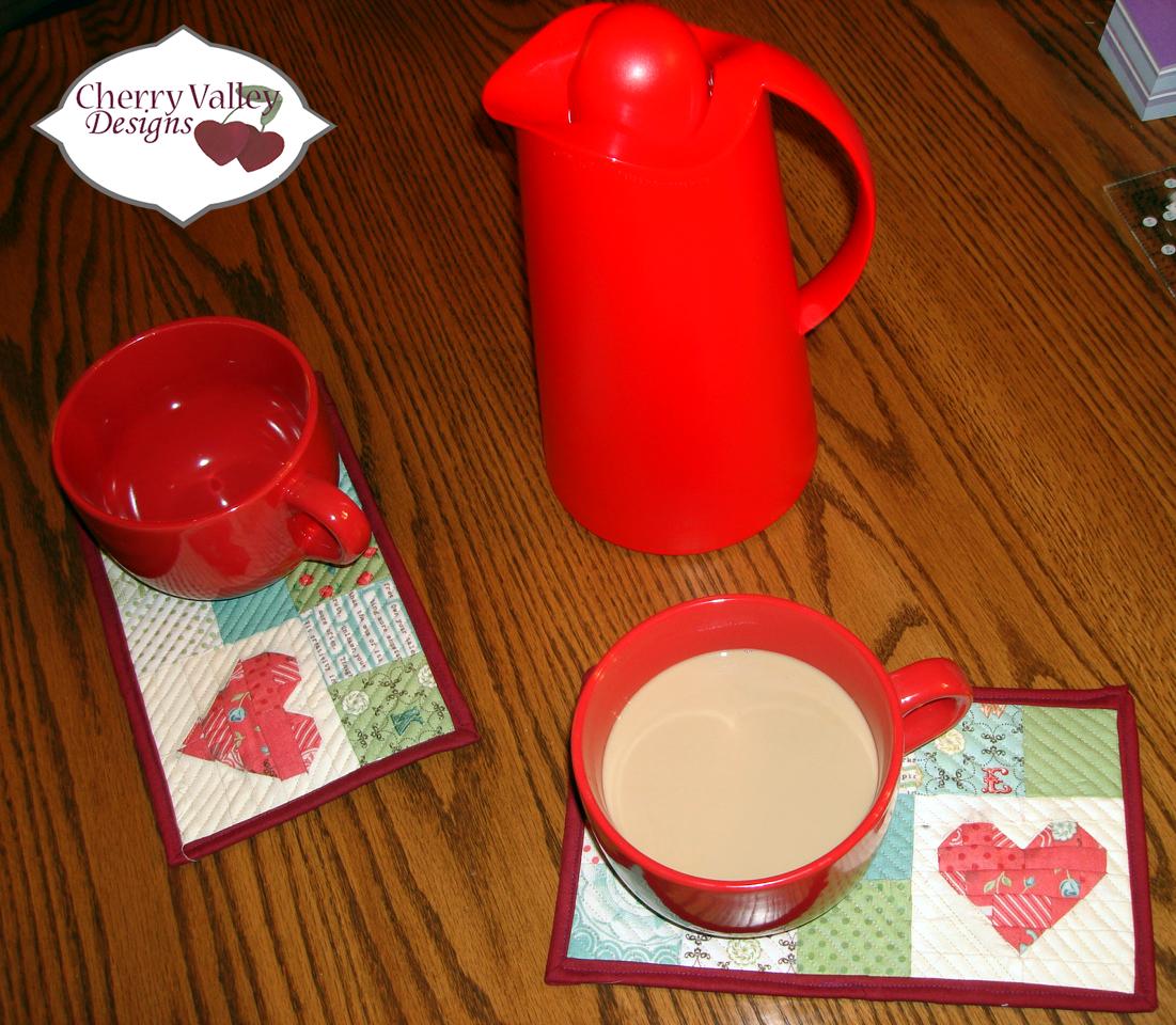 Valentines Mug Rugs