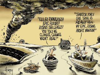 David Horsey cartoon on flooding and climate change