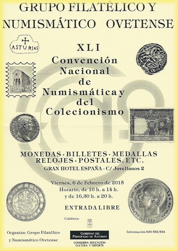Cartel convención coleccionismo de Oviedo