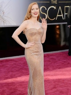 Jessica Chastain at the Oscars 2013