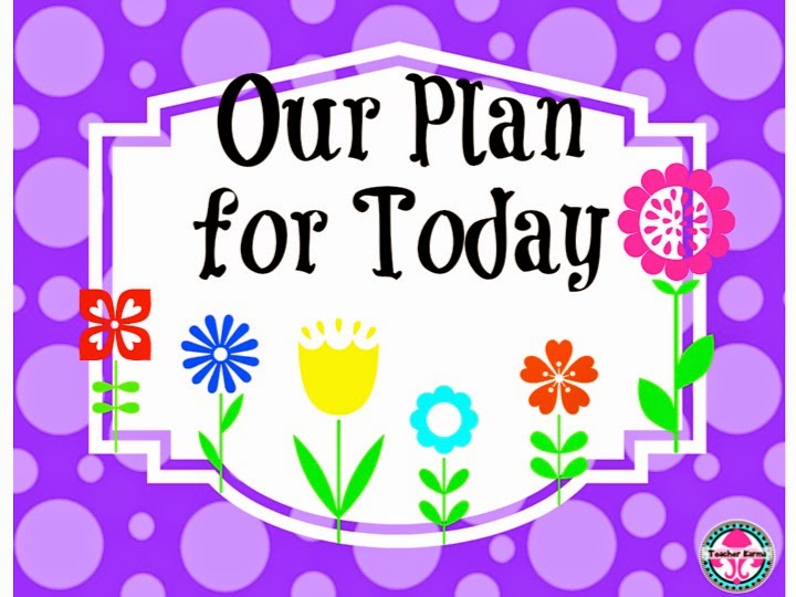Our Plan for Today ~ by Subject
