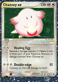 Chansey ex EX Ruby and Sapphire Pokemon Card
