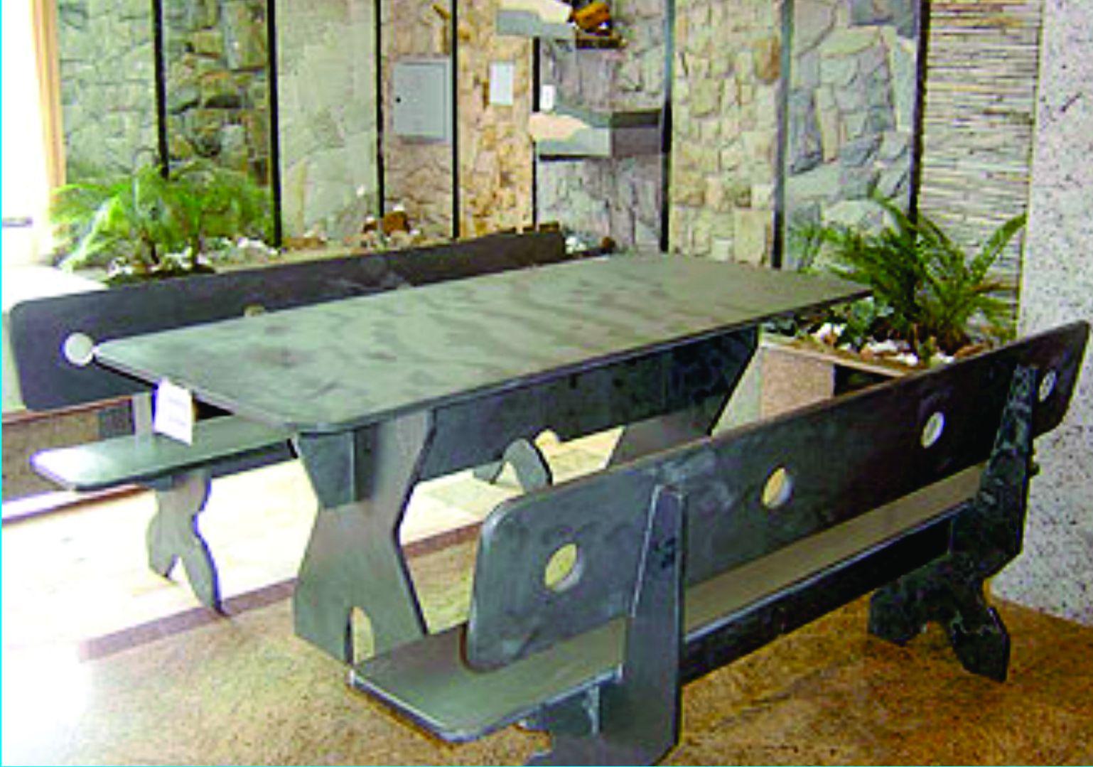 banco de jardim ardosia : banco de jardim ardosia: para revestimentos de parede jardinagem e mesas e bancos