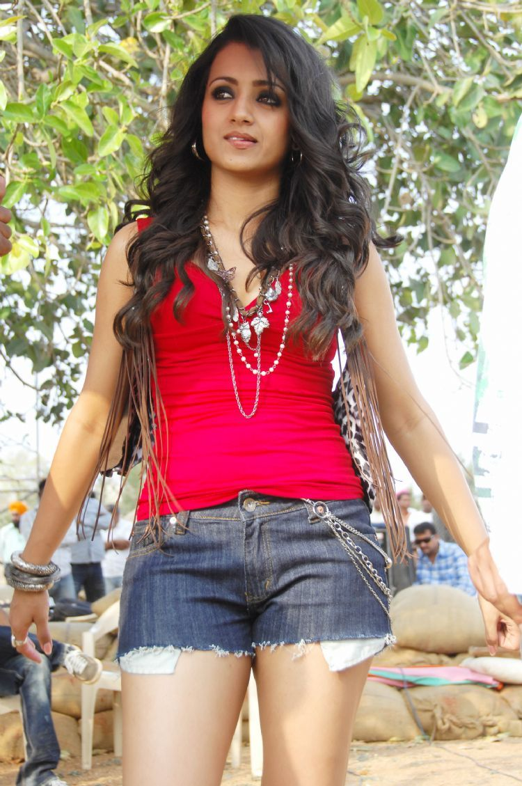 Trisha Theen Maar Movie Still1 - Hot Trisha In Theen Maar Movie Latest Stills