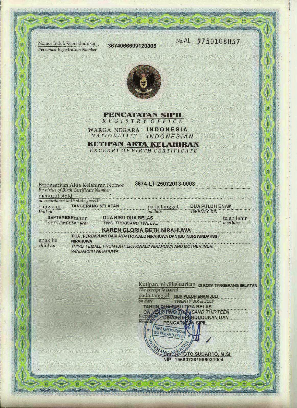 Akte Kelahiran salah satu syarat kelengkapan dokumen permohonan PASPOR #jasaPaspor