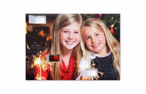 Foto-julekalender med chokolade fra Sarotti® og Confiserie Heidel®