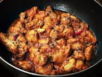 Resepi Diet Atkins Ayam Masak Black Pepper Bersantan bersama sayur