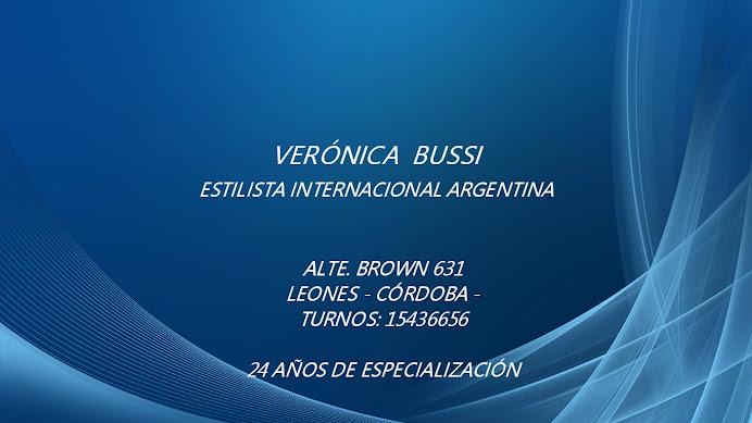 ESPACIO PUBLICITARIO: VERÓNICA BUSSI ESTILISTA INTERNACIONAL