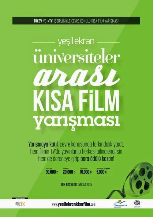 yeşil ekran film yarışması, çevre ve şehircilik bakanlığı, yarışma, hediye, ödül, çevre, çevre düzenleme