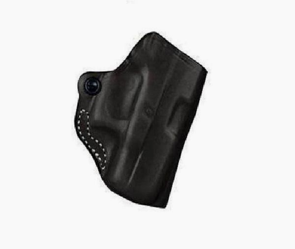 Desantis Mini Scabbard Belt Holster RH Black For Glock 26 27 Leather 019BAE1Z0