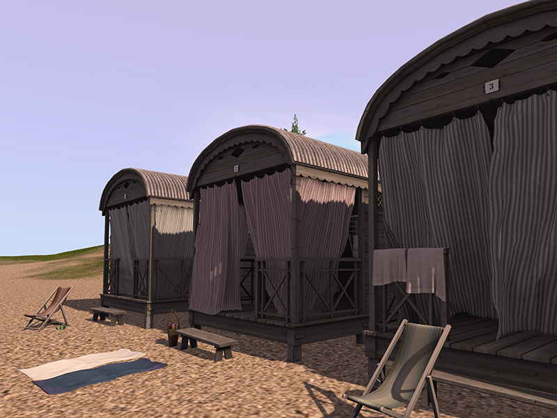 Second Life beach cottages