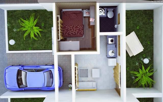 Gambar interior rumah minimalis type 21