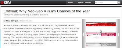 IGN : la Neo Geo X console de l'année Sans+titre