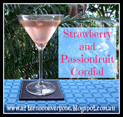 Strawberry and Passionfruit Cordial