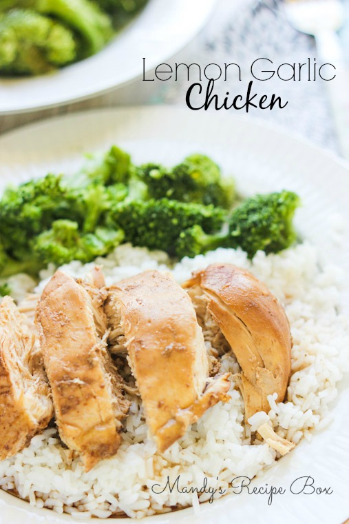 This Lemon Garlic Chicken is made in the slow cooker so you know it's ...