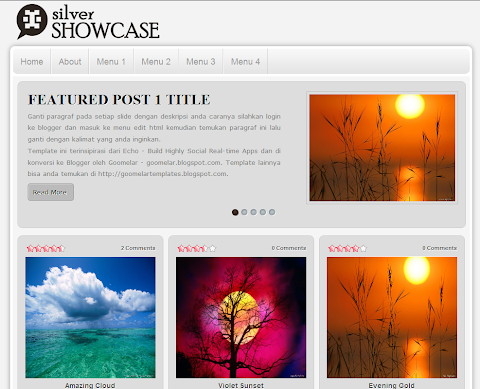 Silver Showcase Blogger Theme