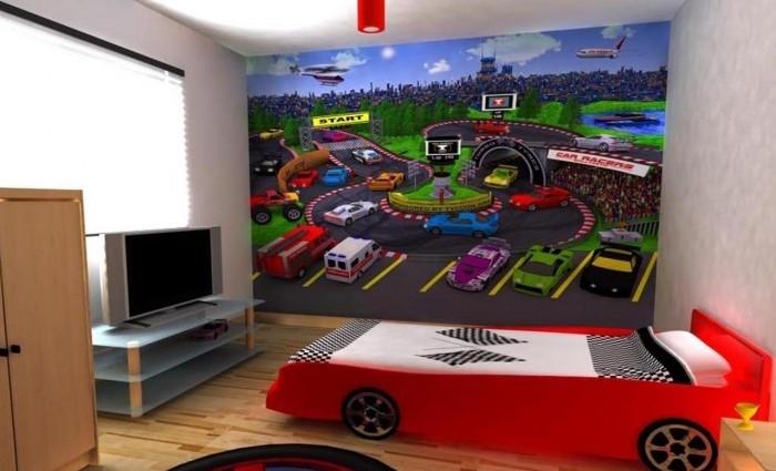 El tema del dormitorio para niu00f1os son los coches, como vemos por la ...
