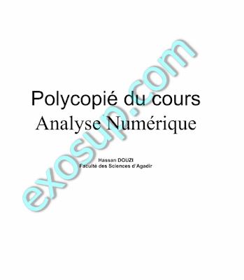 Polycopié du cours Analyse Numérique FSA