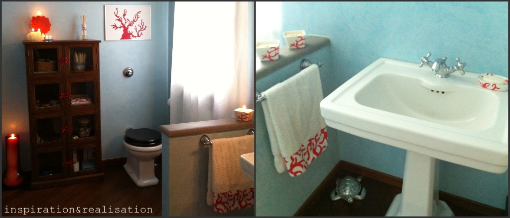 inspiration and realisation: DIY fashion blog: powder room complete!