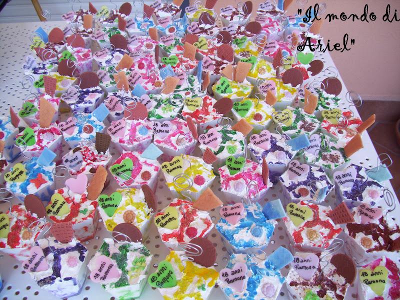 Popolare il mondo di Ariel: bomboniere 18esimo. BX15