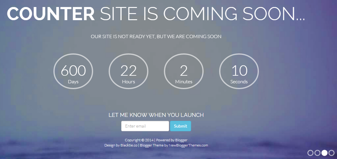 Download Counter Responsive Coming Soon Free Blogger Template