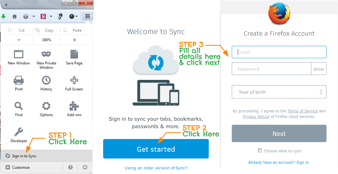 How to set up Firefox Sync