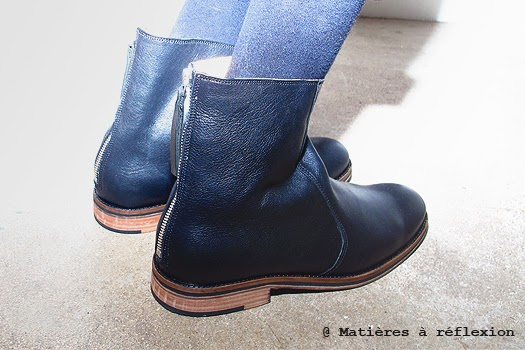 Craie bottines noires