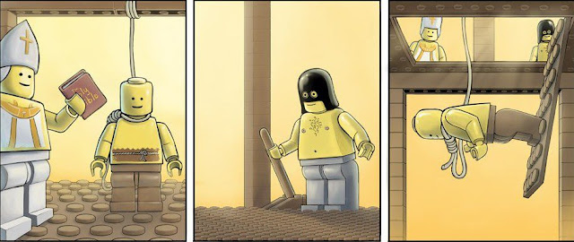 fail hanging of a lego man