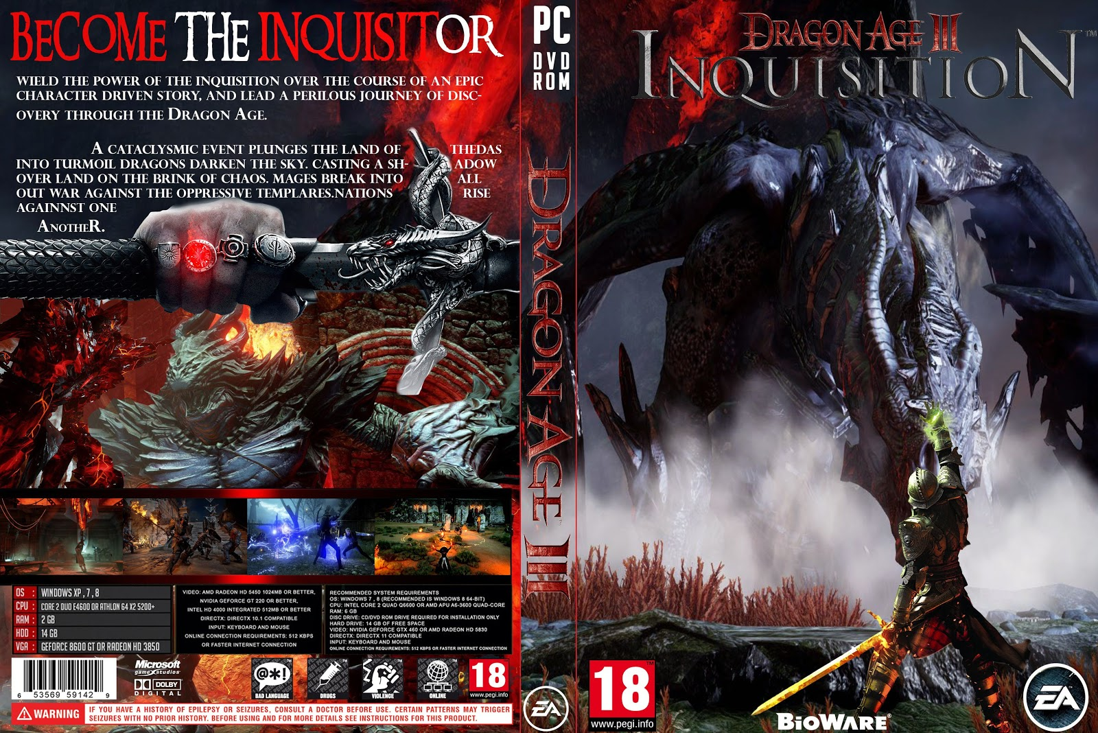 Capa Dragon Age III Inquisition PC