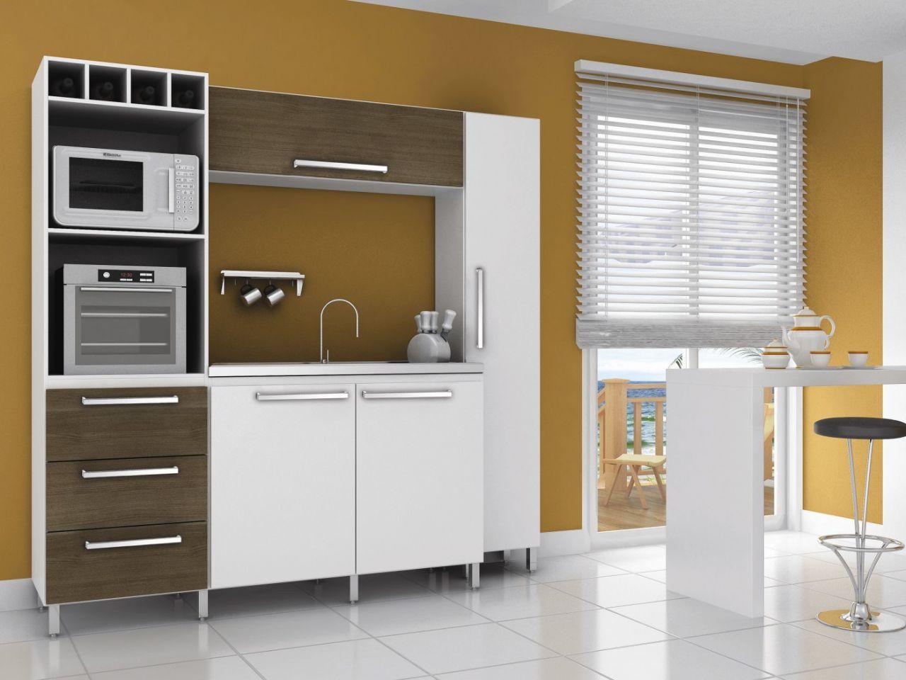 cozinha compacta carolina cor branco e teca móveis sul cozinha #8F6C35 1280 960
