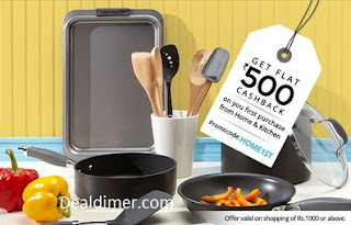 Home & Kitchen Rs.500 cashback on orders of Rs.1000 – PayTM