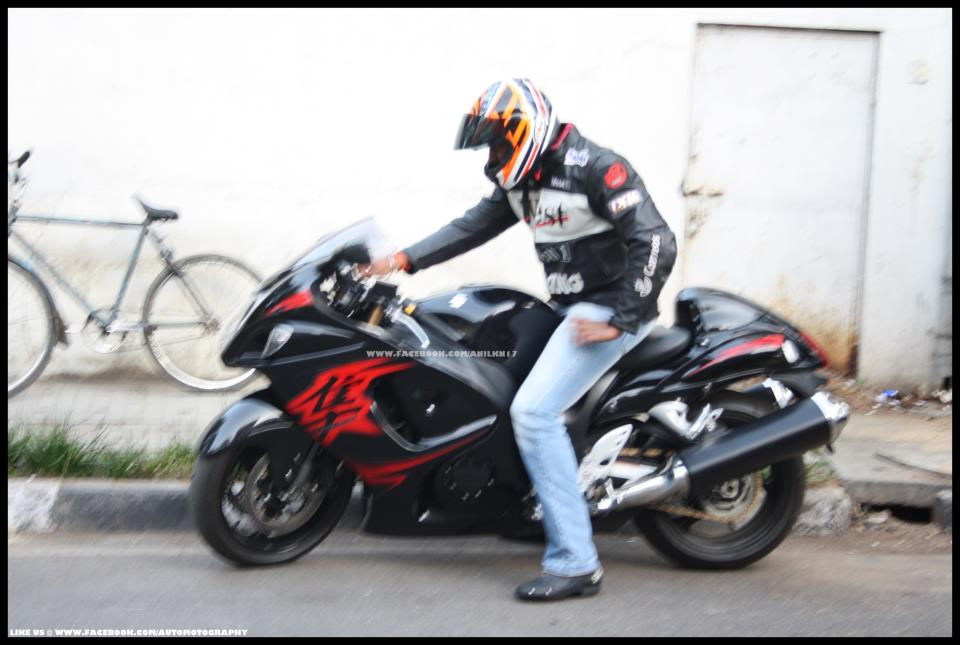 Kannada Actor Darshan S Suzuki Hayabusa Celebrity Cars