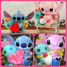 (INSTOCK) 2009 Disney Sega Valentine Stitch Angel & Scrump Plush Set