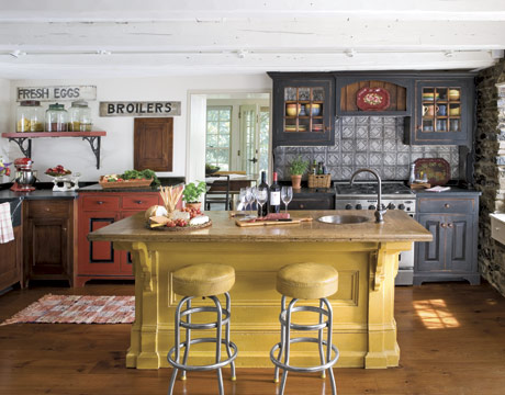 Kitchen Dreams Colorful Kitchen Islands