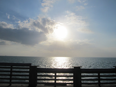 the view from a key biscayne fishing pier