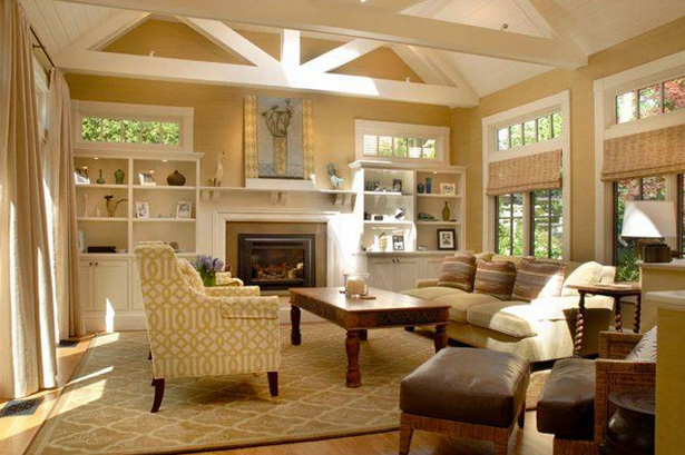 Craftsmans Style Living Room