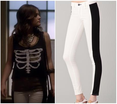 Pretty Little Liars: Season 3 Episode 9 Aria&39s Black and White Jeans |