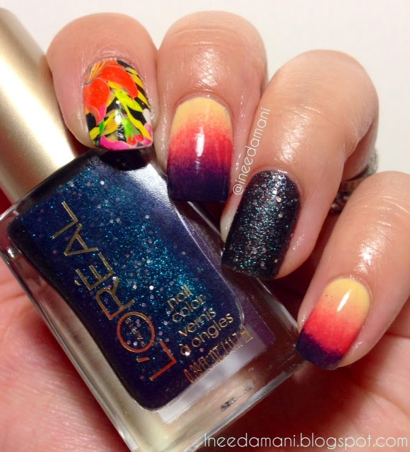 hawaii floral sunset loreal hidden gems nails