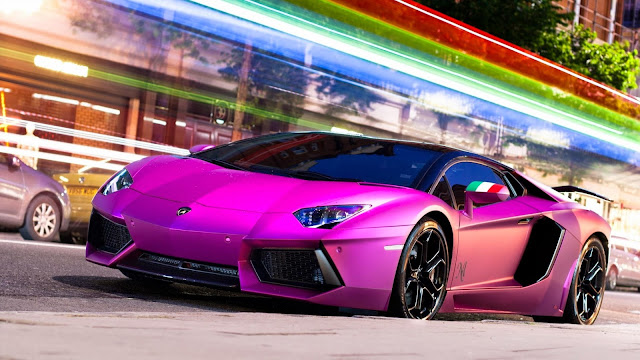 1685-Pink Lamborghini Car HD Wallpaperz