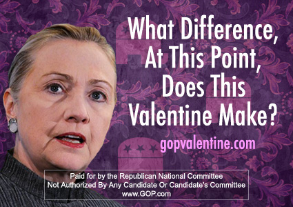 FREEDOM EDEN GOP Valentines Day Cards 2014 – Clintons Valentines Cards