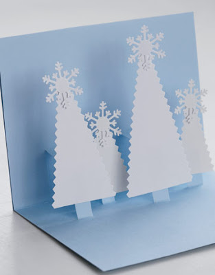 Paper craft card pop up 3d easy christmas trees card fun simple cute hand made gift tags tutorial kids special step+2 pine forest